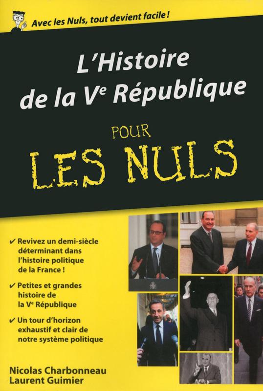 Livre Histoire de la Ve République pour les nuls