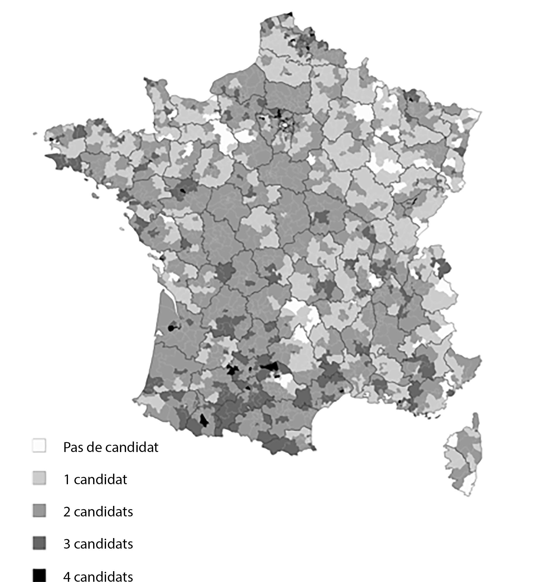 Fragmentation de la gauche aux élections départementales de 2015