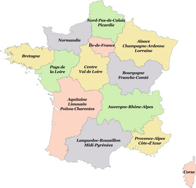 Nouvelles régions française