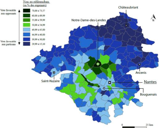 Les résultats du référendum de Notre-Dame-des-Landes