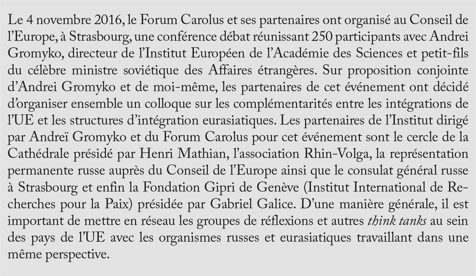 Forum Carolus