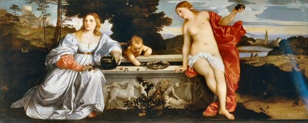 Amour sacré Amour profane - Titien Wikimedia Commons