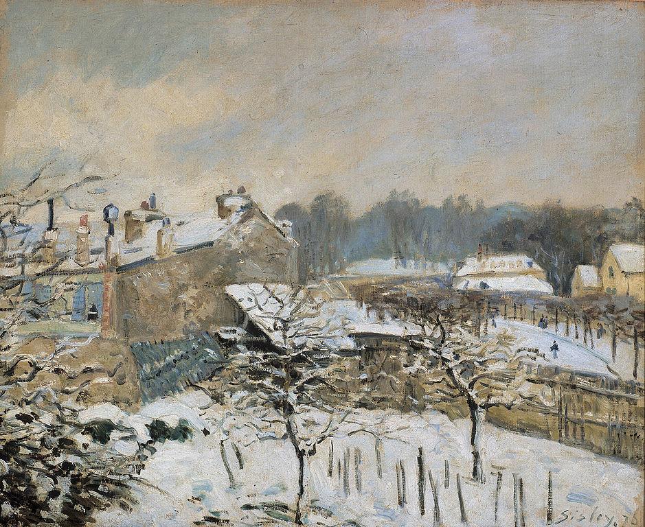 Effet de neige à Louveciennes Wikimedia Commons