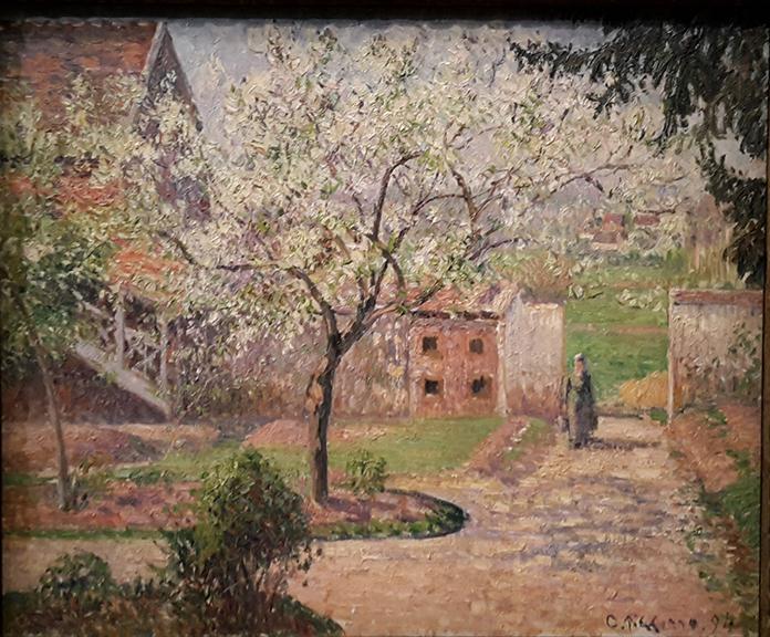 Pruniers en fleur à Eragny, Camille Pissarro, 1894