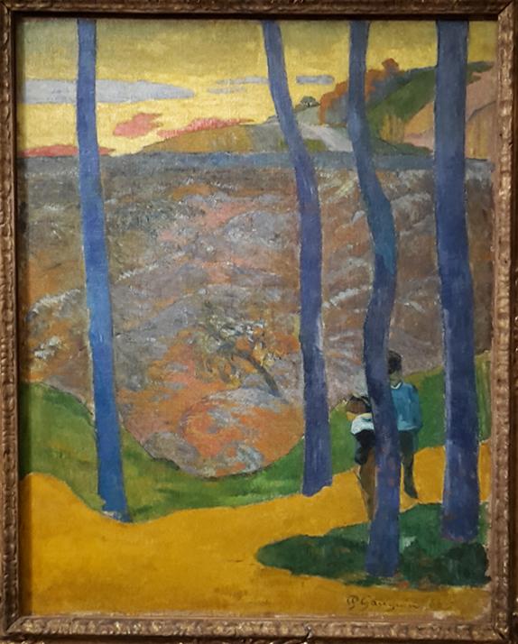 """""""Les Arbres bleus"""". """"Vous y passerez, la belle !"""", Paul Gauguin"""