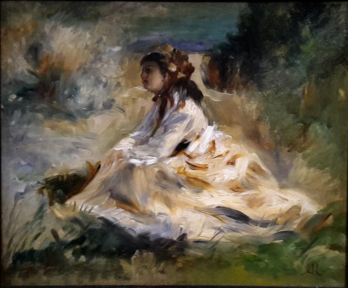 Une femme dans l'herbe, Auguste Renoir, vers 1868