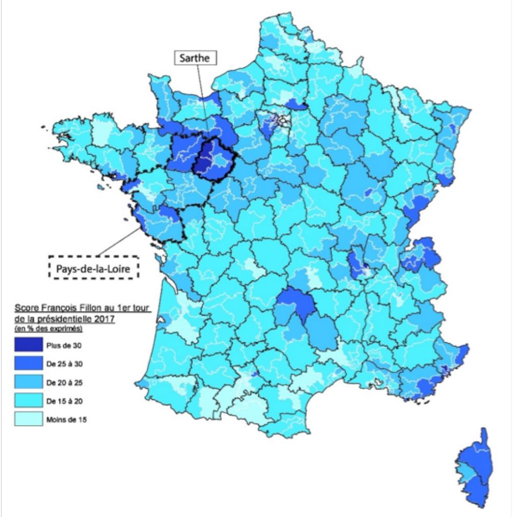 Le vote de François Fillon au premier tour de l'élection présidentielle 2017