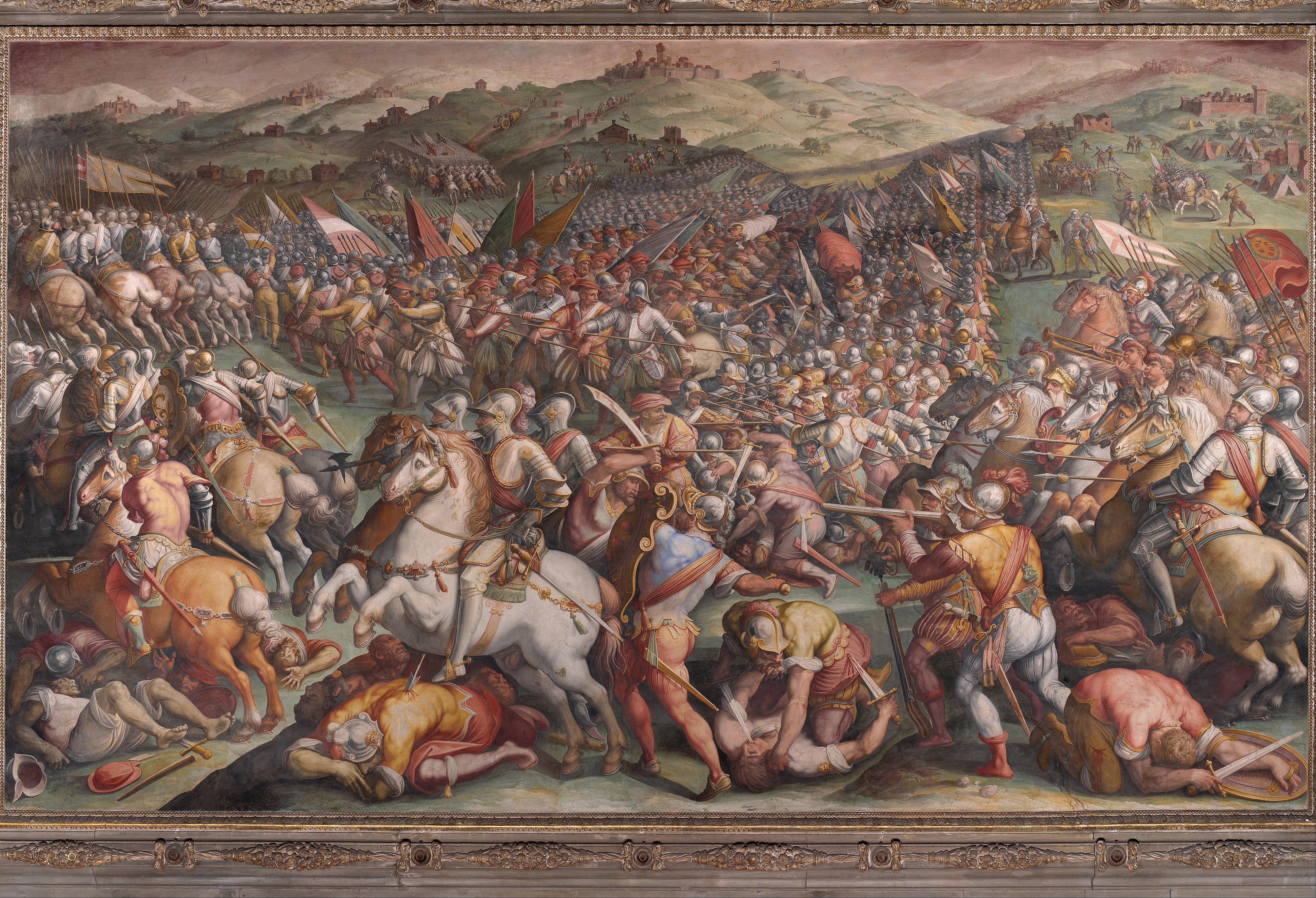 La bataille de Marciano, Vasari Source : Wikimedia