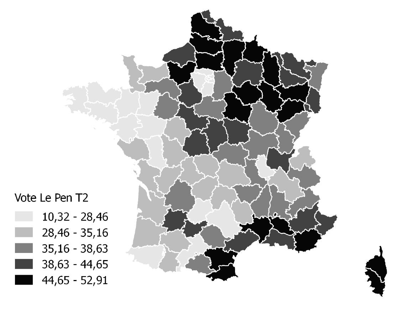 Le vote Le Pen au second tour de l'élection présidentielle de 2017