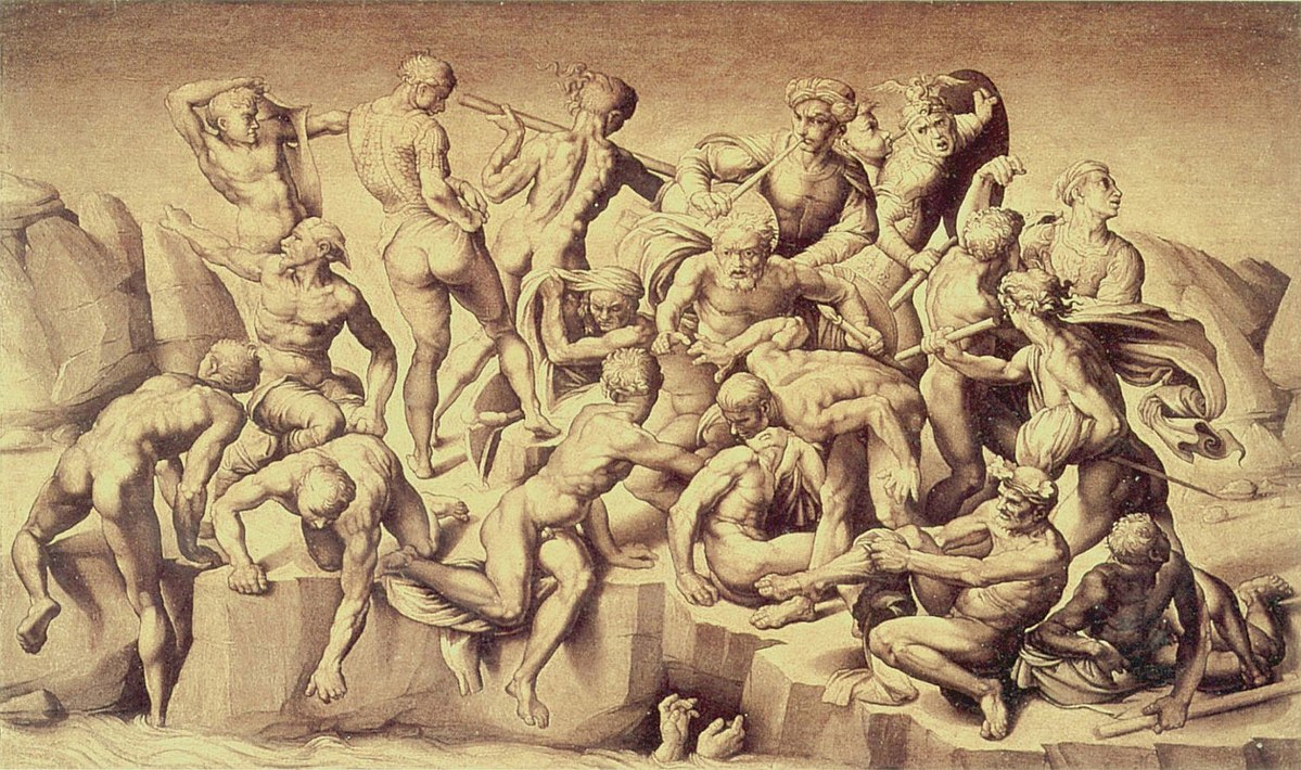 Bataille de Cascina, Michel Ange Source : Wikipedia