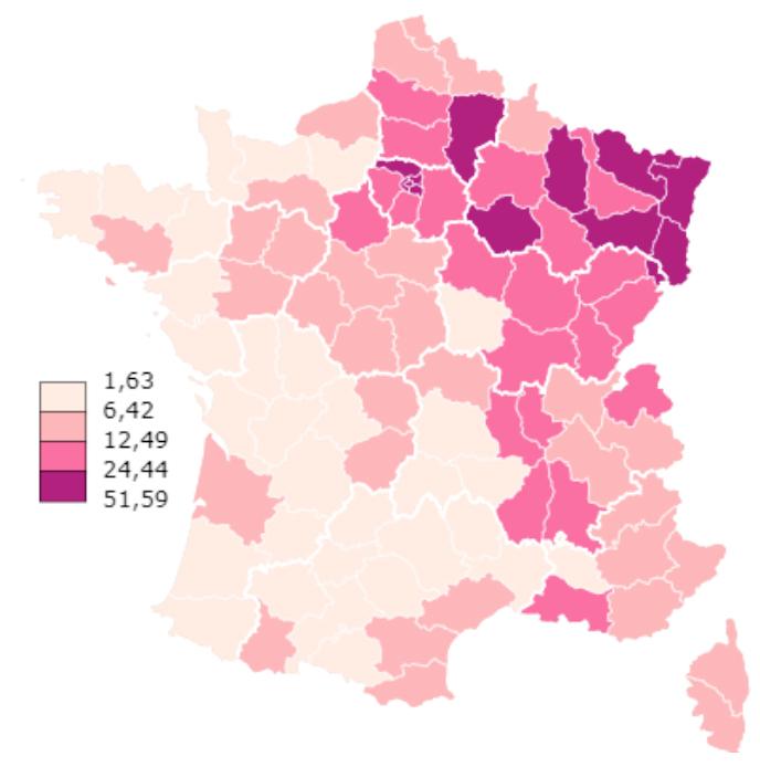 Covid-19 premier bilan de l'épidémie carte France 2