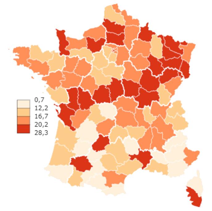 Covid-19 premier bilan de l'épidémie carte France 3