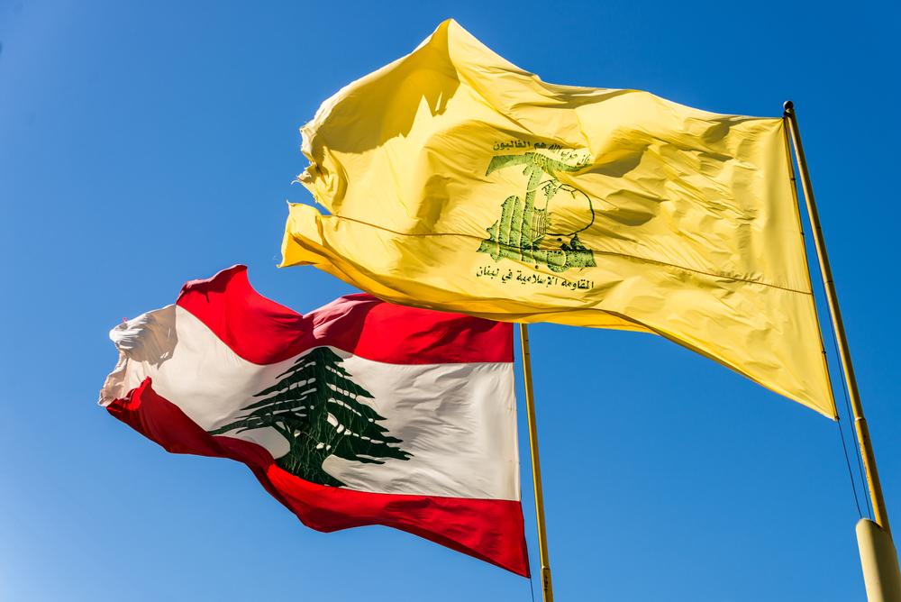 Drapeaux Liban + Hezbollah