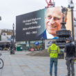 Prince Philip hommage Picadilly Circus