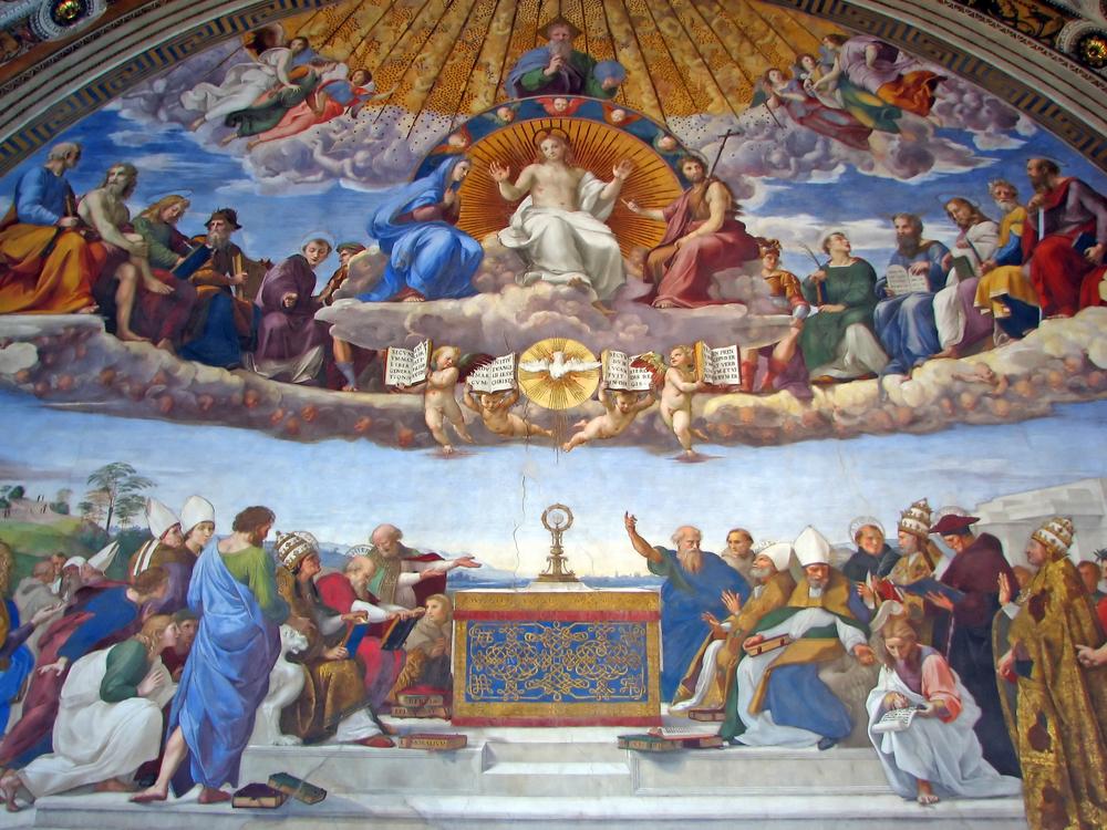 La Dispute du Saint-Sacrement, Raphaël