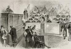 Illustration d'un débat au Parlement
