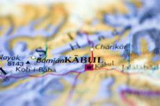 Kaboul sur la carte