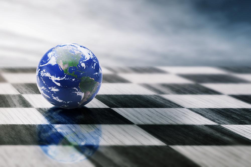 Représentation du monde sur un échiquier